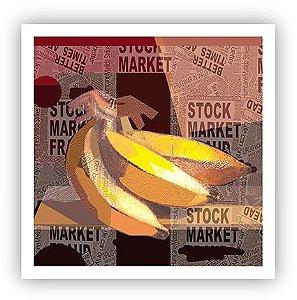 Banana na construção / Fine Art em Tela sem molduraa - Manasses Andrade