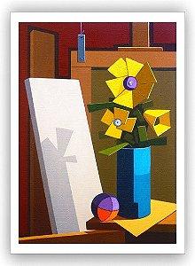 No atelier do Rio porta 2  /Fine Art em Tela sem moldura - Manasses Andrade