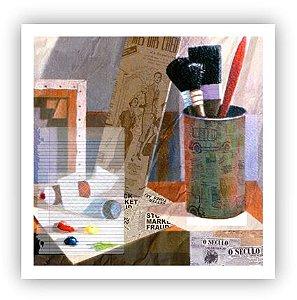 No atelier do Rio / Fine Art em Tela sem moldura - Manasses Andrade