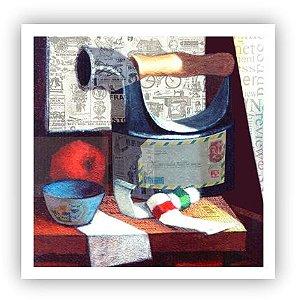 No cantinho do atelier / Fine Art em Tela sem moldura - Manasses Andrade