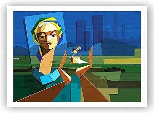 O Brasil que espero / Fine Art em Tela sem moldura - Manasses Andrade