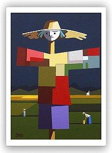 O espantalho do Manoel / Fine Art em Tela sem moldura - Manasses Andrade