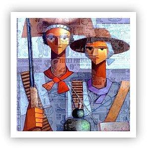 Os cangaceiros / Fine Art em Tela sem moldura - Manasses Andrade
