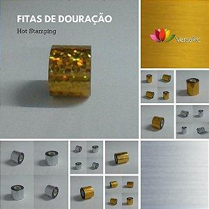 """Fita  p/   """"Douração""""  Hot Stamping - Modelo Cor Lisa Metalizada 7cm x 120 metros"""