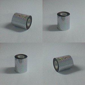 """Fita p/ Hot Stamping """" Douração""""  7cm x 120m Tipo Holográfica"""
