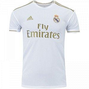 Camisa Real Madrid I 19/20 Torcedor Adidas Masculina - s/n° Branco