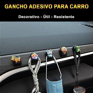 Gancho Adesivo Para Carro Decorativo e Útil Painel Bancos Vidros e Laterais Mini Gancho Autocolante