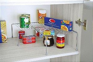 Organizador Retangular Extensível Cozinha Prateleira Bancada - Ref. 1136