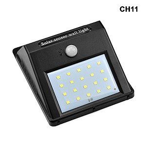 LÂMPADA SOLAR 20 LEDS COM SENSOR DE MOVIMENTO - Ref. CH11