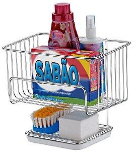 Porta Detergente Sabão Escova Suporte Multiuso Lavanderia Ref. 1068