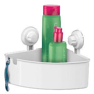 Porta Shampoo Sabonete Cantoneira Com Ventosas Luxo - Ref. 401bc, 401nt