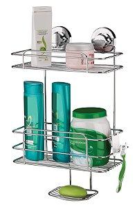 Suporte Para Shampoo Sabonete Com Ventosas Luxo - Ref. 4025