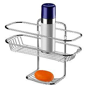 Porta Shampoo E Sabonete De Parede Banheiro - Ref. 1025