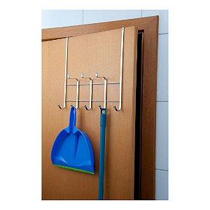 Suporte Multiúso Roupas Toalhas Vassouras Para Porta / Box Lavanderia Banheiro - Ref. 1046