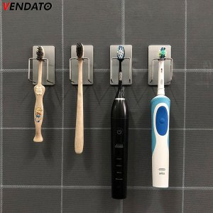 Gancho Adesivo Aço Inoxidável Multiúso Banheiro Suporte Escova de Dentes e Copo  - CH71