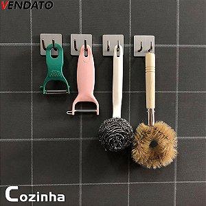Gancho Adesivo Aço Inoxidável Banheiro Cozinha Quarto Garagem Loja Hotel Multiúso - CH99-1, CH99-4