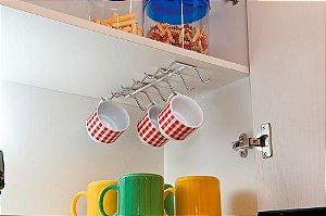 Organizador De Xícaras Para Armário Prateleira Cozinha Para Fixar - Ref. 1079