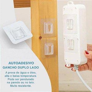 Gancho Dupla Face Autoadesivo Cozinha Banheiro Quarto Garagem Área de Serviço - CH161