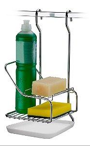 Porta Sabão Detergente E Esponja Suporte para Sabão Detergente Esponja Barra Cozinha - Ref. 2422