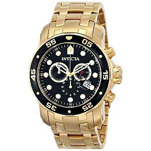 05bffb21e3b Relógio Invicta Pro Diver 0072 - Banhado a ouro 18k