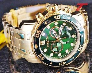 9dbaccf786e Relógio Invicta Pro Diver 0075 - Banhado a ouro 18k