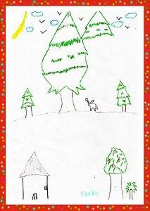 Pacote com 10 Cartões de Natal