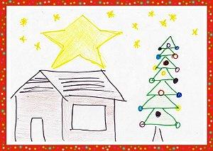 Pacote com 100 Cartões de Natal. Ideal para revender na igreja.