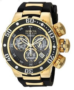 31ecfd5492d Relógio Invicta Men s  Reserve  Quartz Stainless Steel and Silicone Casual  Watch
