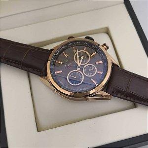 b6a6a40168e Relógio Tag Heuer Jhonny Walker Pulseira de couro - Lojas Factory ...