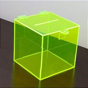 Urna de acrílico verde pequena