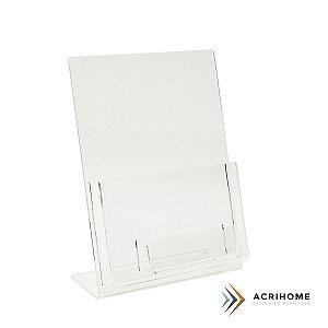 Porta folder A5 vertical com porta cartões