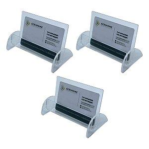 Porta cartão transparente - kit com 3 peças