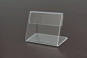 Display porta preço 6x8cm - Kit com 10 peças