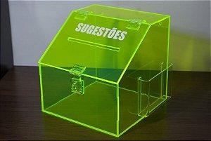 Caixa de sugestões verde
