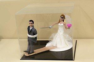 Caixa para topo de bolo de casamento