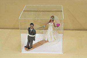 Caixa para noivinhos de casamento - Fundo branco