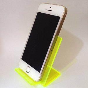 Expositor de celular verde fluorescente - 10 peças
