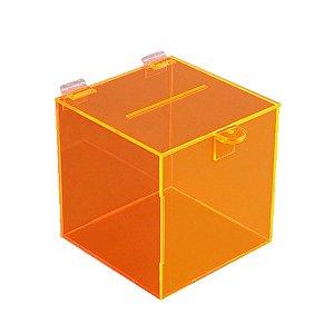 Urna de acrílico laranja pequena