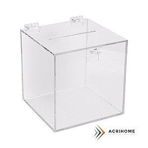 Urna de acrílico transparente