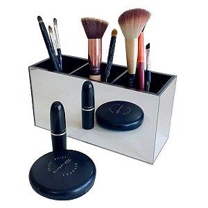 Porta pincel simples - Espelhado e preto