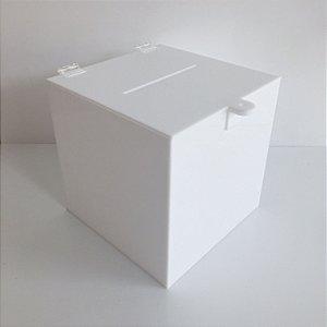 Urna de acrílico branca - 20x20x20cm