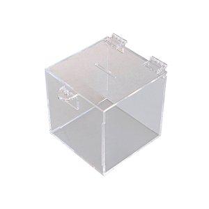 Cofrinho pequeno de acrílico transparente
