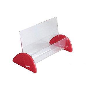 Porta cartão de visita vermelho tipo 1
