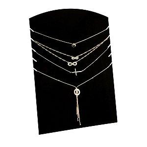 Expositor de 5 colares - Preto