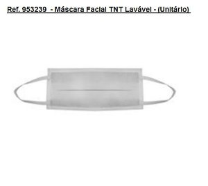 Ref. 953239  - Máscara Facial TNT Lavável - (Unitário)