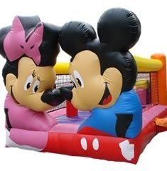 Kiddie Play Mickey & Minnie com Escorregador