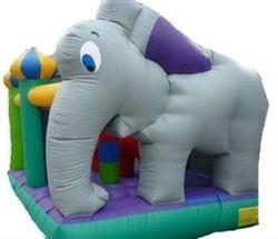 Kiddie Play Elefante com Escorregador