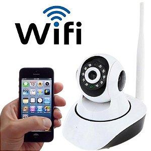Camera Ip Wireless Wi-fi Grava Em Hd Visão Noturna Micro Sd