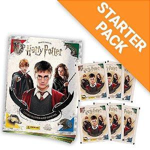 Starter Pack Harry Potter Saga Livro Ilustrado Capa Cartão + 60 envelopes (240 Cromos + 60 Cards)