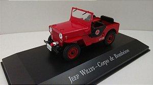 Jeep Willys Corpo de Bombeiros-Escala 1/43-Edição 15